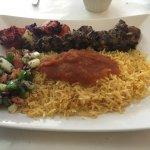 Kebab combination platter.