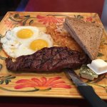 Steak and eggs breakfast!