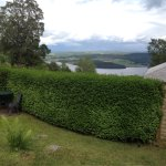 View from the garden over Loch Ness.   Birds in the garden!!