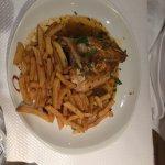 1/4 poulet rôti + frites maison