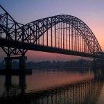 tramonti sul fiume ayeyarwady