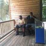 my boys taking a break and watching the monkeys