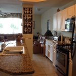 Completely stocked kitchen - stove, dishwasher, microwave, coffee pot, toaster oven, fridge.