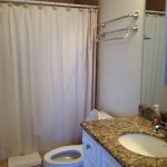 Full bath with closet. Nice walk in shower. Granite counter tops. So lovely!
