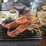 King prawns in the Chef's menu