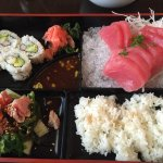 Sushi and Sashimi box for lunch