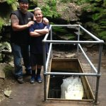 my son & I in the mine