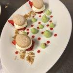 Tiramisu fraise pistache déstructurer