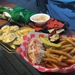 Oyster Rockefeller, Lobster Roll, Crab Dip