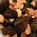 Roast Brussel Sprouts and cashews. I could not get enough!