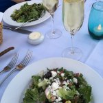 wine paired salads and dessert