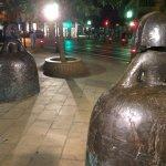 Plaza Moyúa en la noche