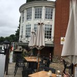 Restaurant patio on the Thames River