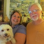 Our hosts, Ann and Steve and their dog, Gigi