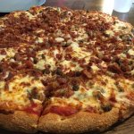 A Two-topping Beef and Bacon Pizza
