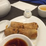 Hot and sour soup and spring rolls