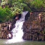 Family Fun jumping from falls!!