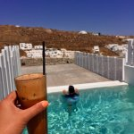 Private plunge pool in the superior suite plus a yummy frappe