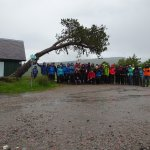 The gang ready for the off despite the weather - it is July after all!!