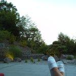 Nach der Massage entspannt auf meiner Terrasse liegen