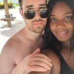 Beach area selfie. Fun but romantic.