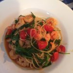 Prawn, tomato and garlic pasta