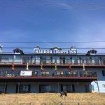 The Harbor Lights Inn (Depoe Bay Inn) from the harbor.
