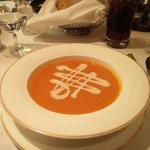 Pumpkin soup in The Saddle Room restaurant.