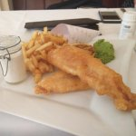 Shelbourne Fish and Chips for Lunch in the No. 27 Bar and Restaurant.