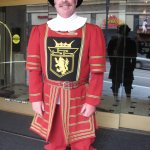 "Famed ""BEEFEATER"" will take care of your luggage, your car and will hail you a taxi +++."