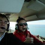 Shannon my co-pilot and instructor