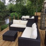Our riverfront heather outdoor lounge