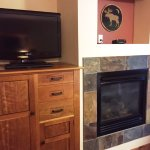 TV/fireplace - room 118