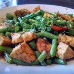 Green bean and tofu stir fry