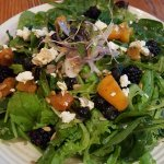 Blackberry and peach salad....WONDERFUL!