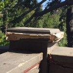 Rotting balcony railing support