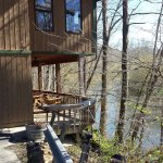 Rear deck overlooking river