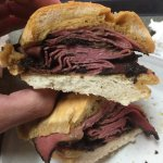 Both the beef and pastrami double dip sandwiches were fantastic.  Come on a week day when there