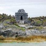 Ruinas de Tulum, vistas desde el mar
