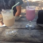 Passion fruit and berry smoothies