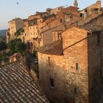 The view of Montepulciano from our window. The morning light was amazing.