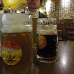 i vari tipi di birra, ottima la scura tipo Praga
