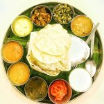 The vegetarian south-indian thali - must try
