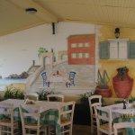 Beach restaurant in Roda.