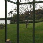 Vue depuis la véranda vitrée