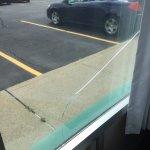 Our view through broken glass