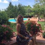 The beautiful garden at Il Casolare Di Libbiano