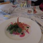 Wonderful lobster starter at Lafayette restaurant