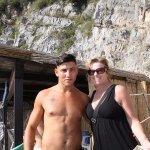 Lifeguard Aldo and my wife Nancy
