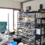 Pottery in the making in the workshop
